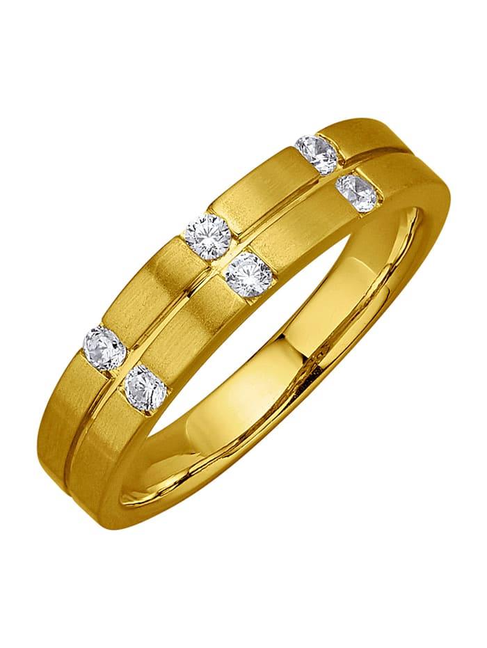 Amara Diamant Damenring mit Brillanten, Gelbgoldfarben