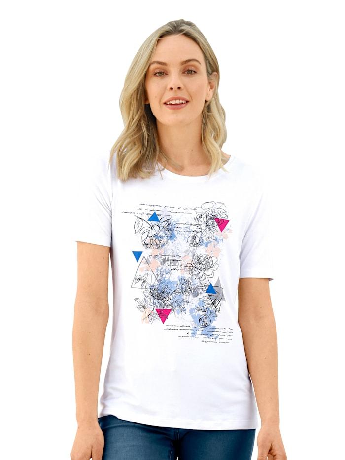 AMY VERMONT Shirt met grafische print voor, Wit