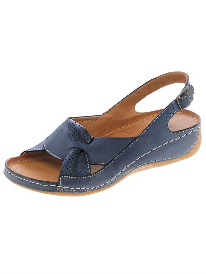 Naturläufer Sandale mit raffinierter Schlaufe, Blau