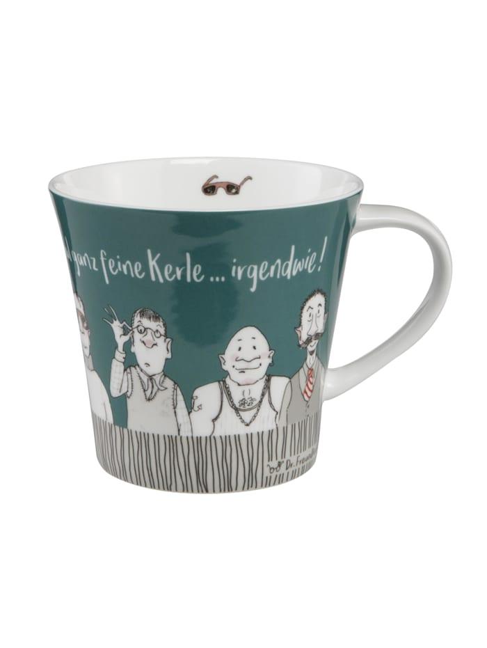 Goebel Goebel Coffee-/Tea Mug Barbara Freundlieb - Feine Kerle, Bunt