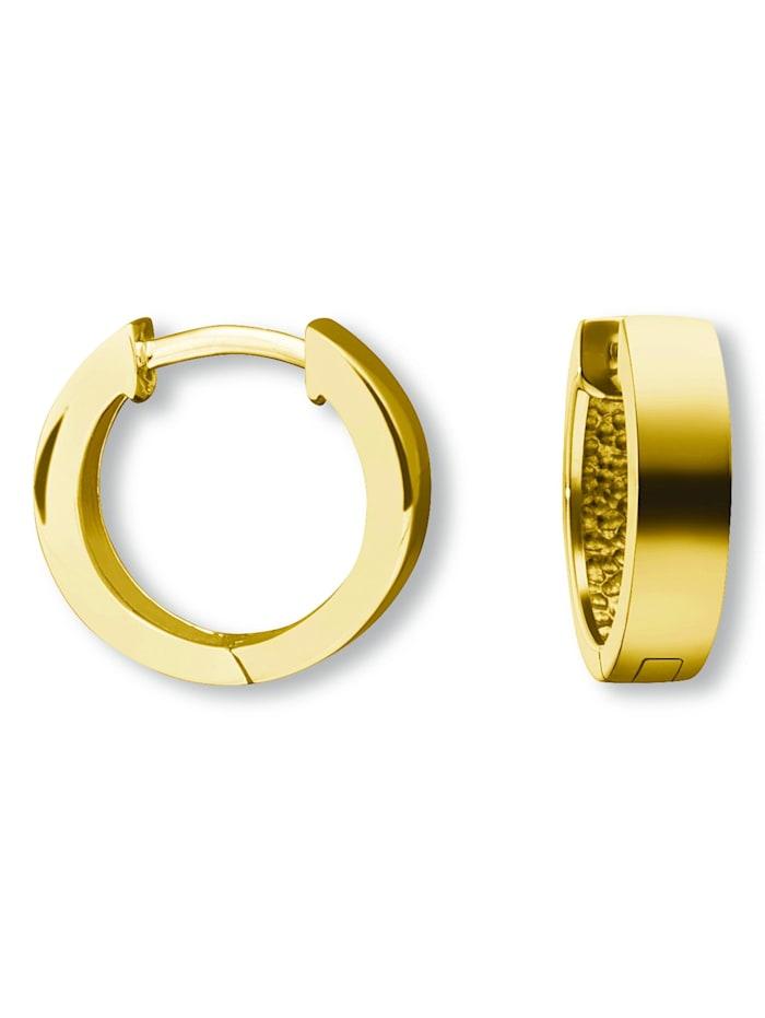 One Element Damen Schmuck Orhringe / Creolen aus 333 Gelbgold, gold