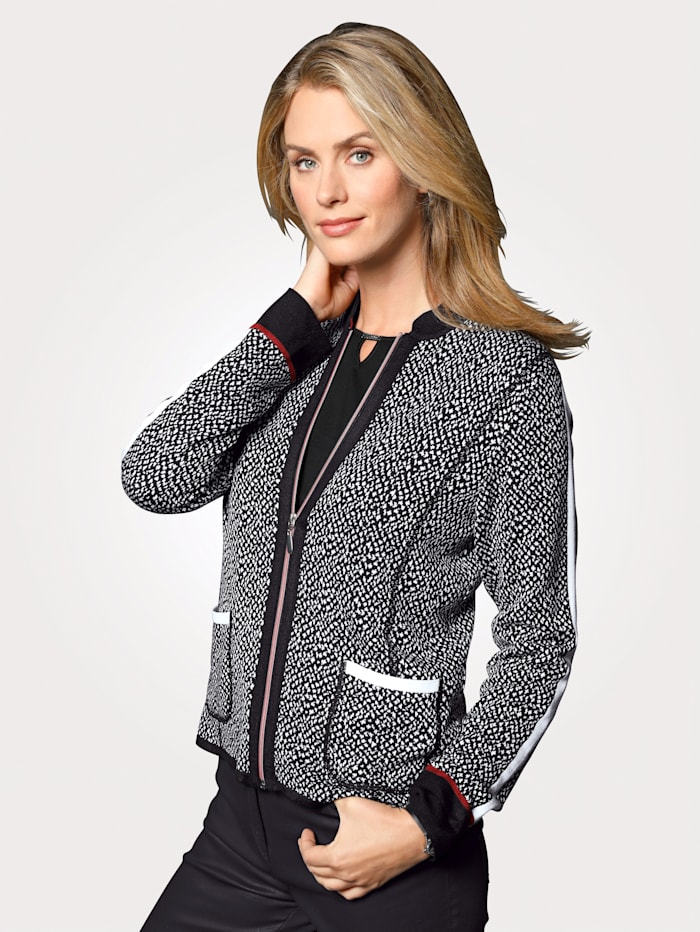 Cardigan made from jacquard knit fabric