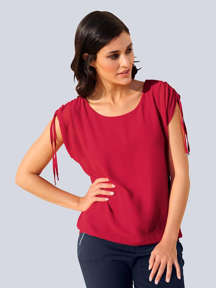 Alba Moda Bluse in trendiger Optik, Rot