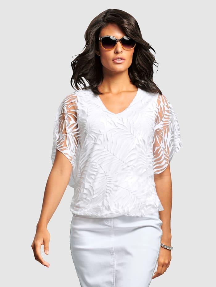 Alba Moda Shirt in 2-in-1 Optik, Off-white