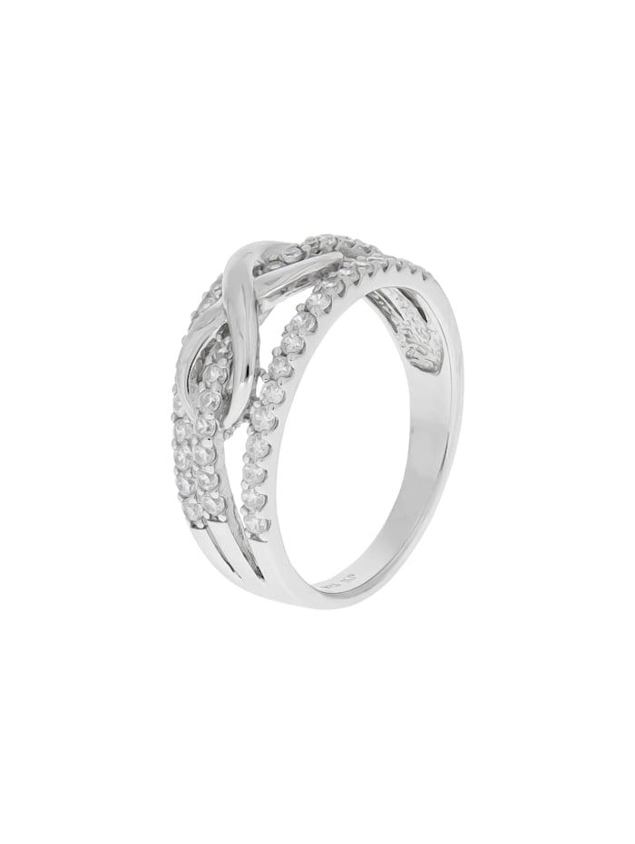ZEEme Ring 925/- Sterling Silber Zirkonia weiß Glänzend, weiß