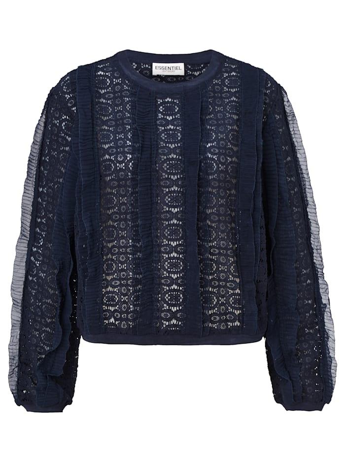 ESSENTIEL ANTWERP Spitzensweatshirt, Blau