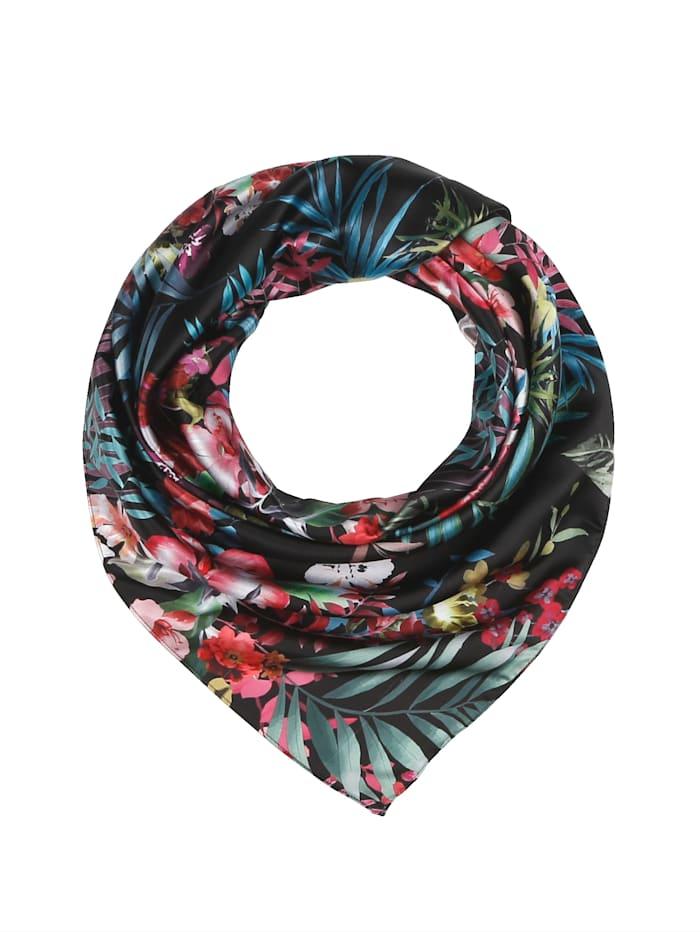 basically you Foulard à motif floral, Noir/imprimé