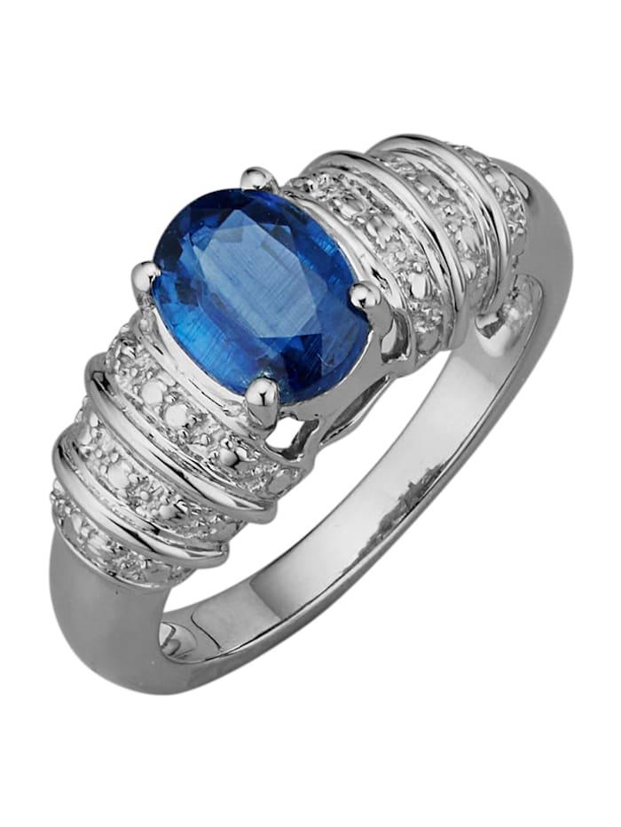 Amara Pierres colorées Bague avec 1 kyanite, Bleu