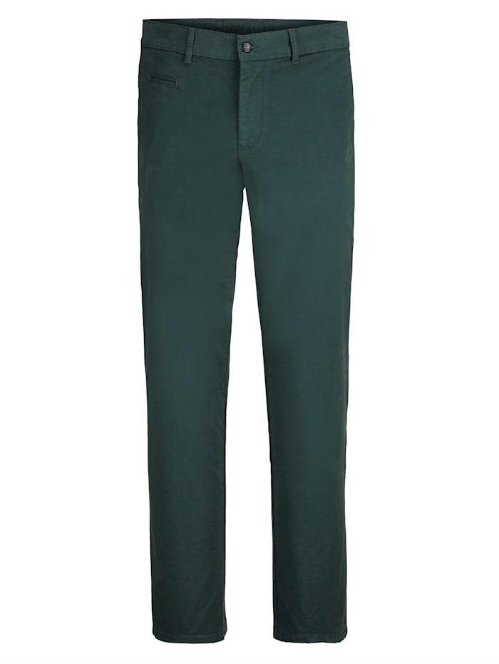 BABISTA Pantalon chino en coton PIMA, Vert foncé