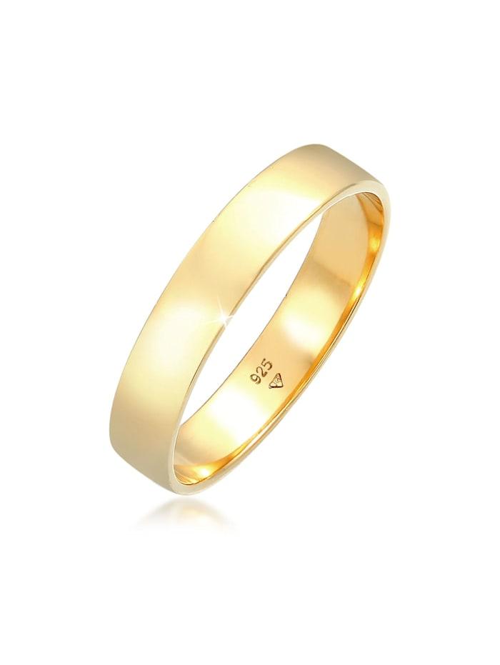 Kuzzoi Ring Bandring Herrenring Freundschaftsring 925 Silber, Gold