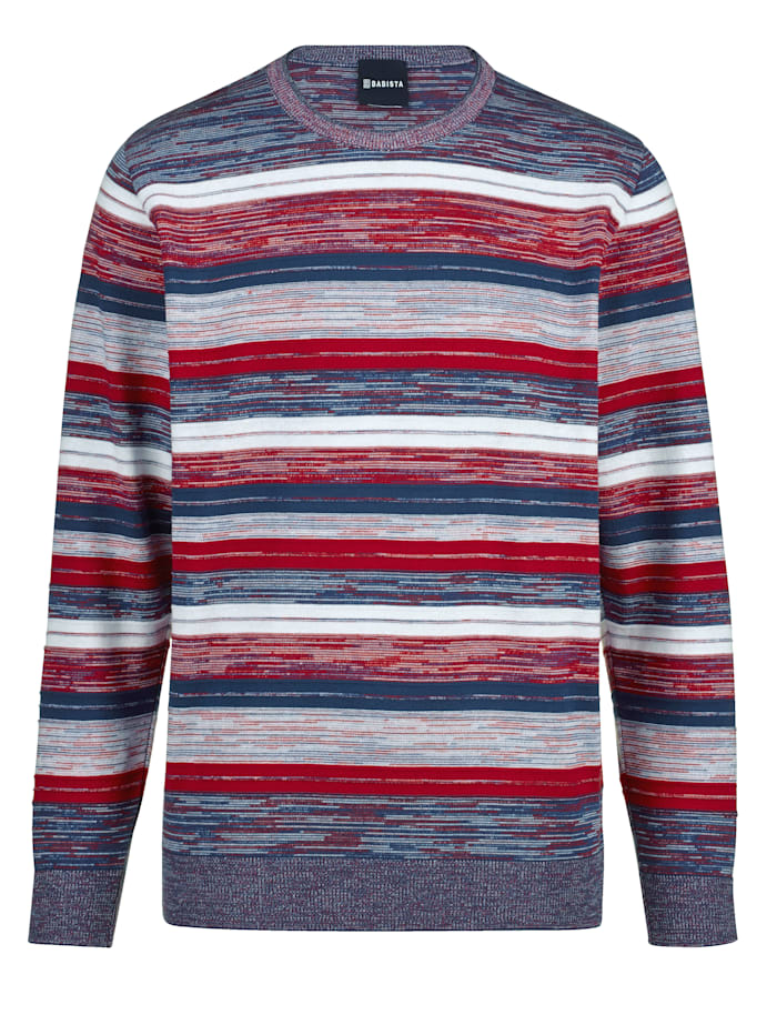 BABISTA Pull-over Made in Italy, Bleu/Rouge/Blanc