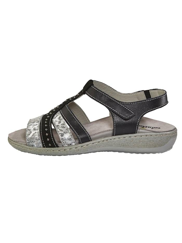 Sandaaltje met elastische inzet bij de hiel