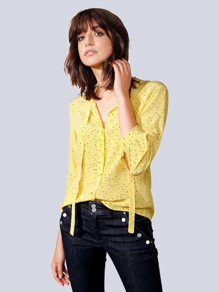 Seidensticker Schwarze Rose Bluse mit kleiner Schluppe, Gelb