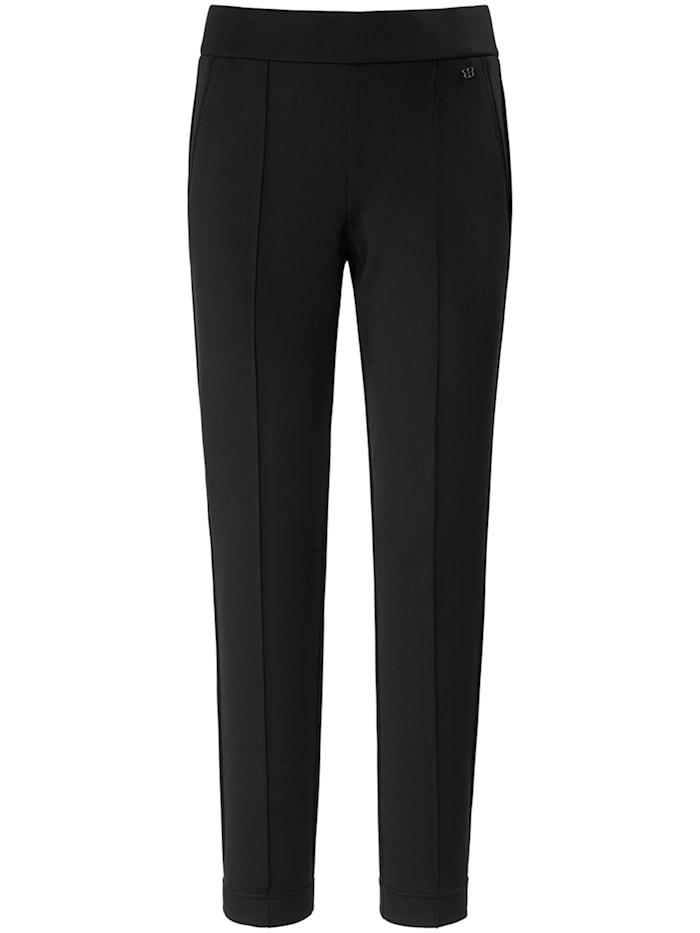 Basler Stoffhose LEA im Uni-Design mit Ziernähten, black