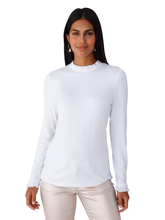 AMY VERMONT Shirt Met ruchesversiering, Wit