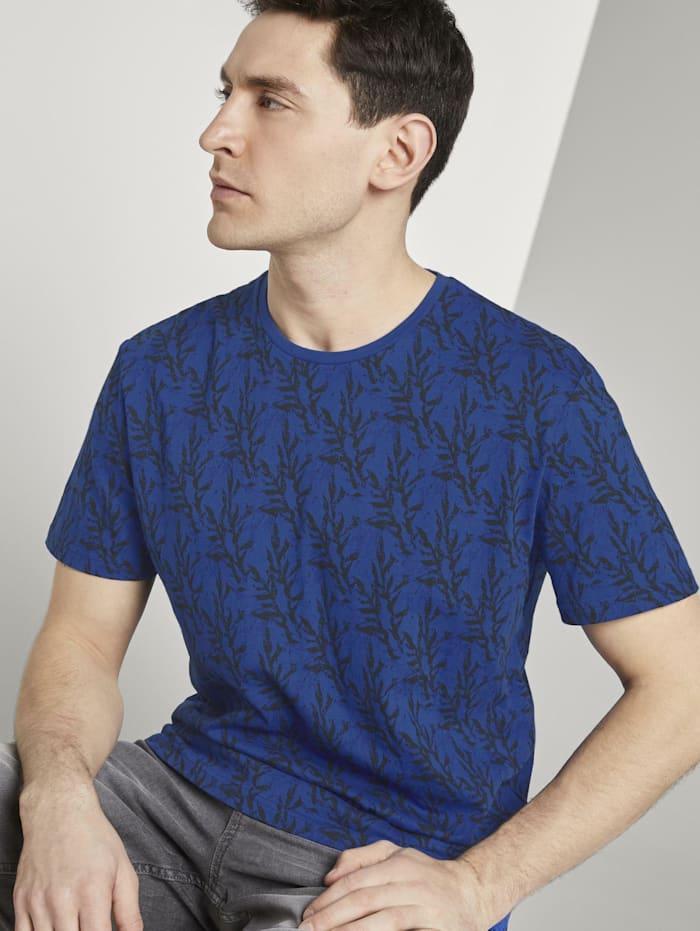 Tom Tailor Gemustertes T-Shirt, blue water coral design