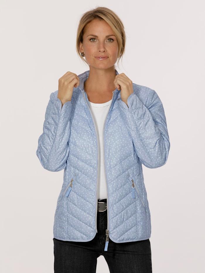 MONA Gewatteerde jas in donslook, Lichtblauw