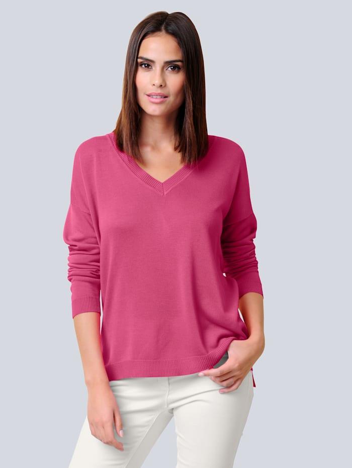Alba Moda Pullover mit Seidenanteil, Pink
