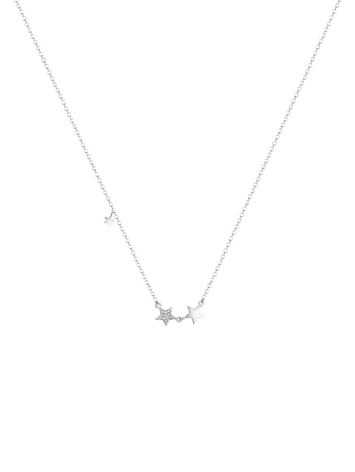 Halskette Stern Astro Trend Swarovski® Kristalle 925 Silber