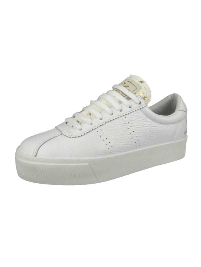 Damenschuhe-Sneaker S111WPW 2854 Club 3 Comflea Ponyhairw Leder weiß 901 White Gold