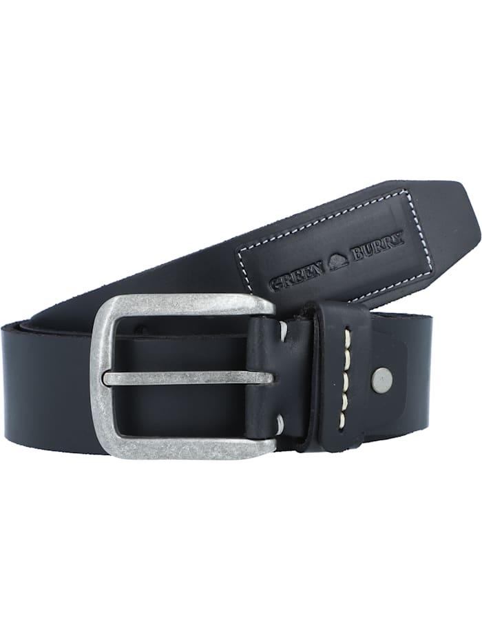 Greenburry Belt Gürtel Leder, schwarz