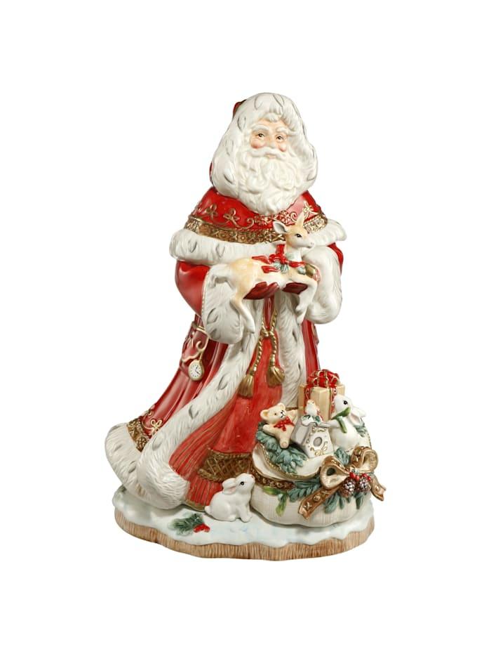 Fitz&Floyd Fitz&Floyd Figur Santa mit Geschenkesack vorne, Bunt