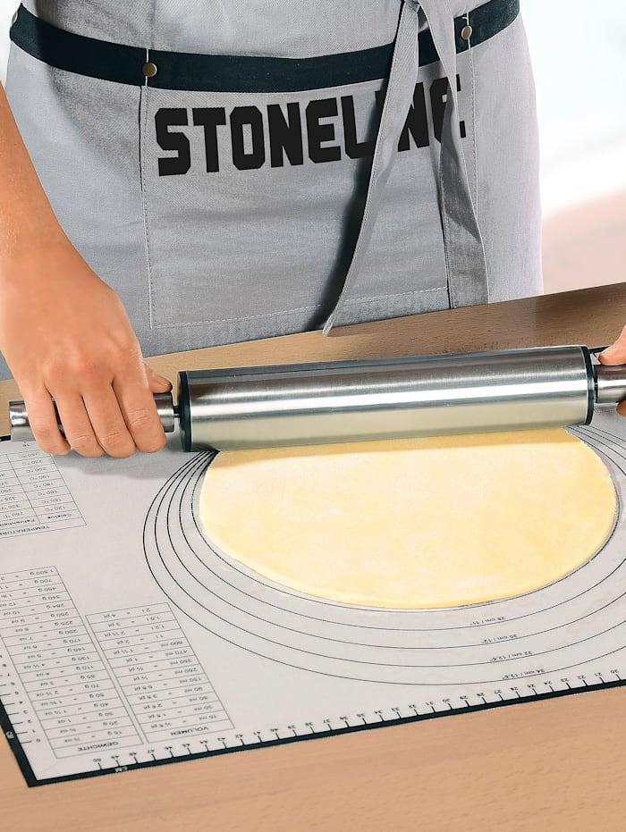 Stoneline Tapis de cuisson, blanc/gris