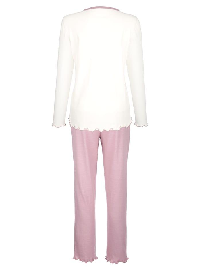 Pyžamy s pekným vzorom potlače