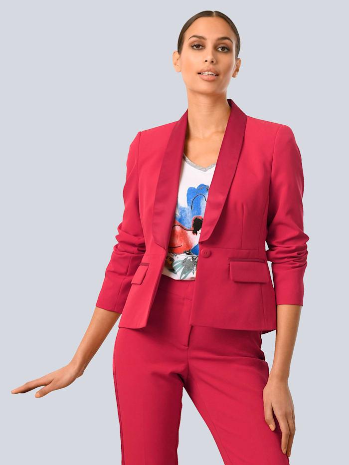Alba Moda Blazer mit glänzenden Paspeln, Rot