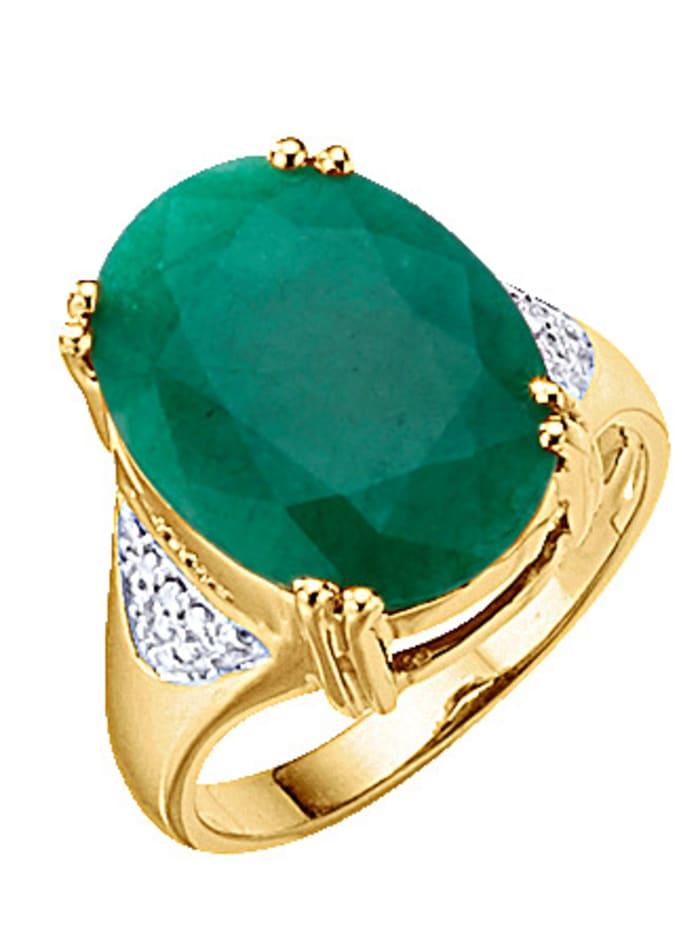 Damesring met smaragd, Groen