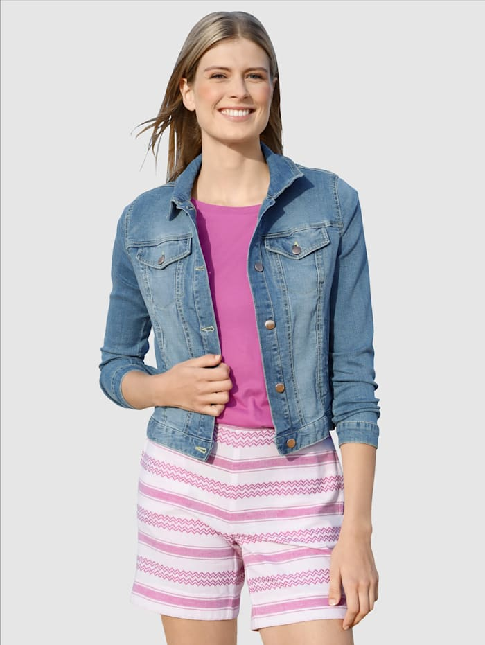 Dress In Jeansjakke med vasket effekt, Blå