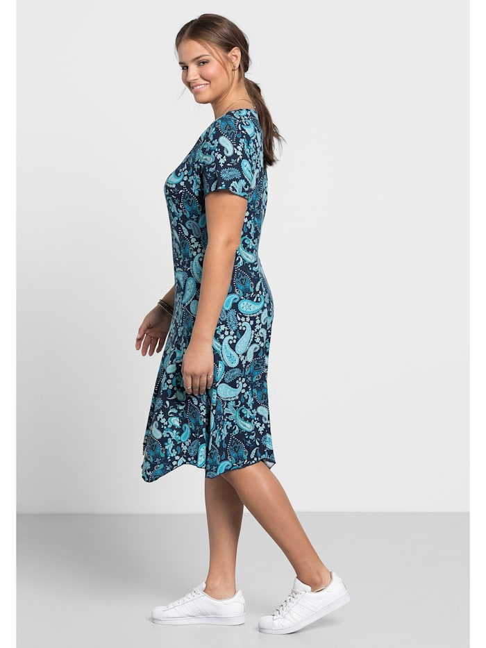 Sheego Kleid mit Paisley-Muster