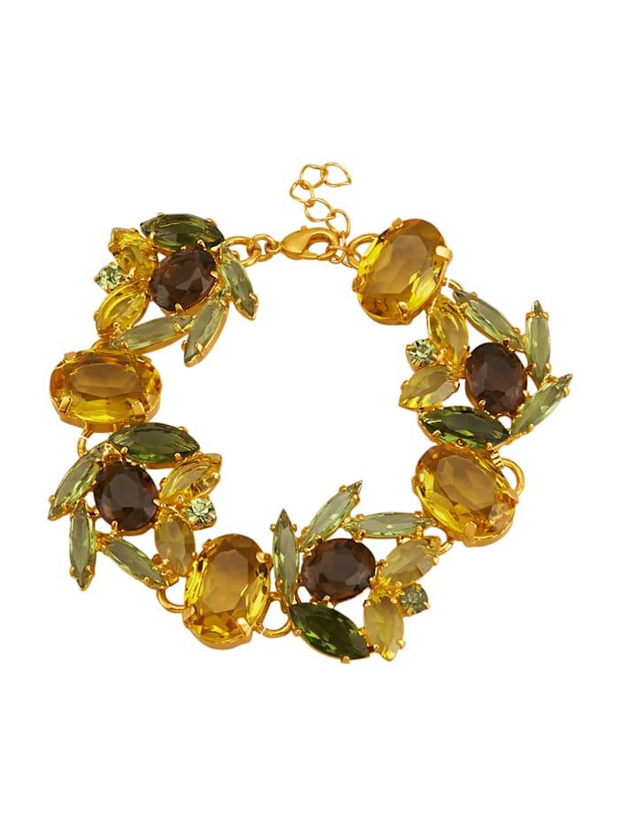 Golden Style Armbånd med krystaller, Gul
