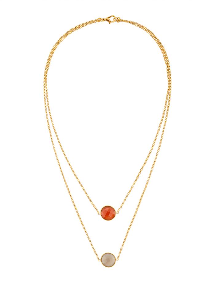 SIENNA Halskette, Gelbgoldfarben