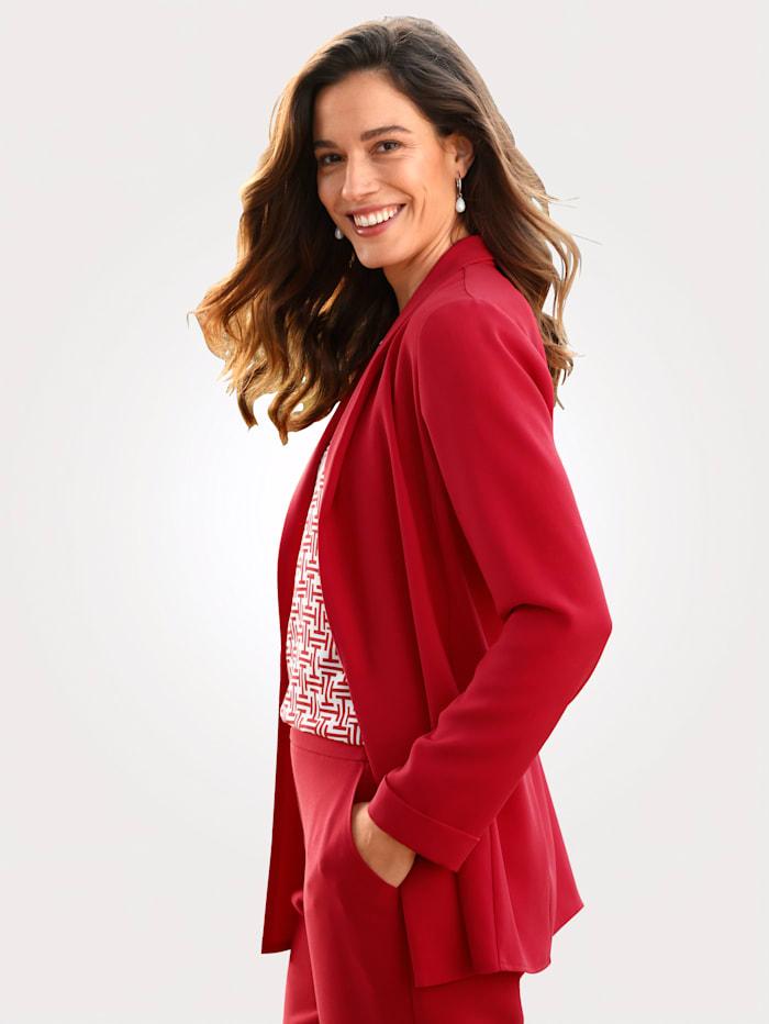 MONA Blazer in modisch längerer Form, Rot