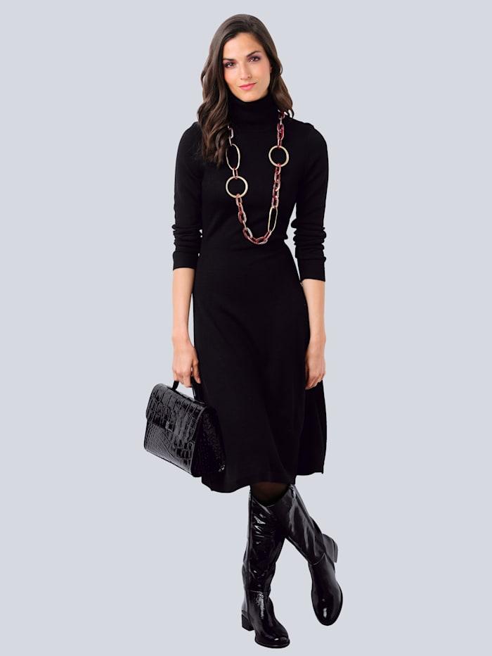 Alba Moda Robe en maille en laine mélangée, Noir