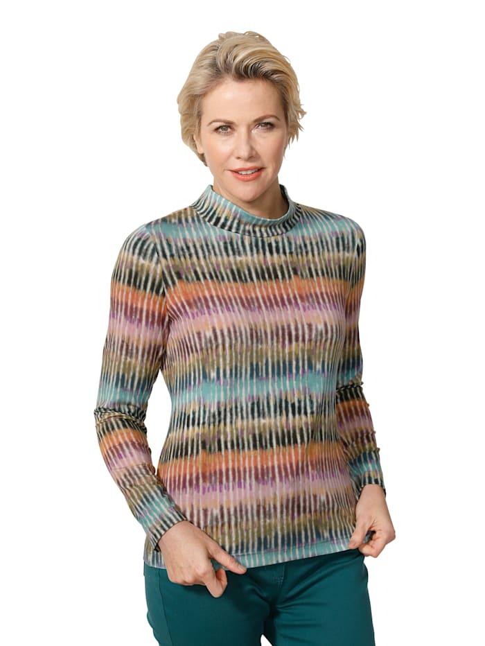 MONA Shirt mit effektvollem Druck, Multicolor