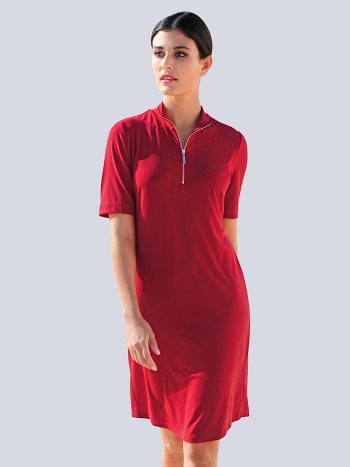 Alba Moda Jerseykleid mit Reißverschluss, Rot