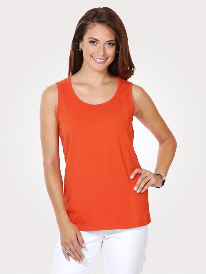 MONA Débardeur en jersey en coton mélangé, Orange