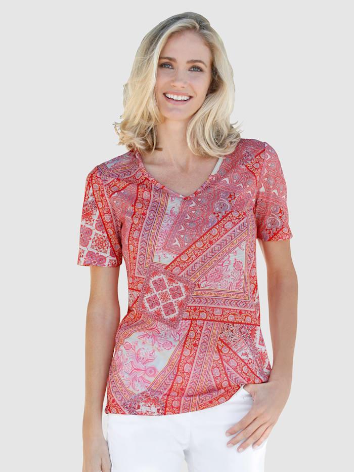 Dress In Top Elegant paisley print, Rosé