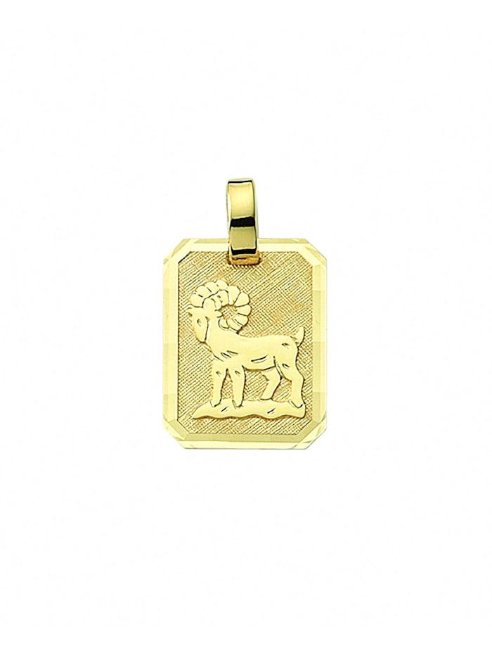 1001 Diamonds Damen & Herren Goldschmuck 333 Gold Sternzeichen Anhänger Widder, gold