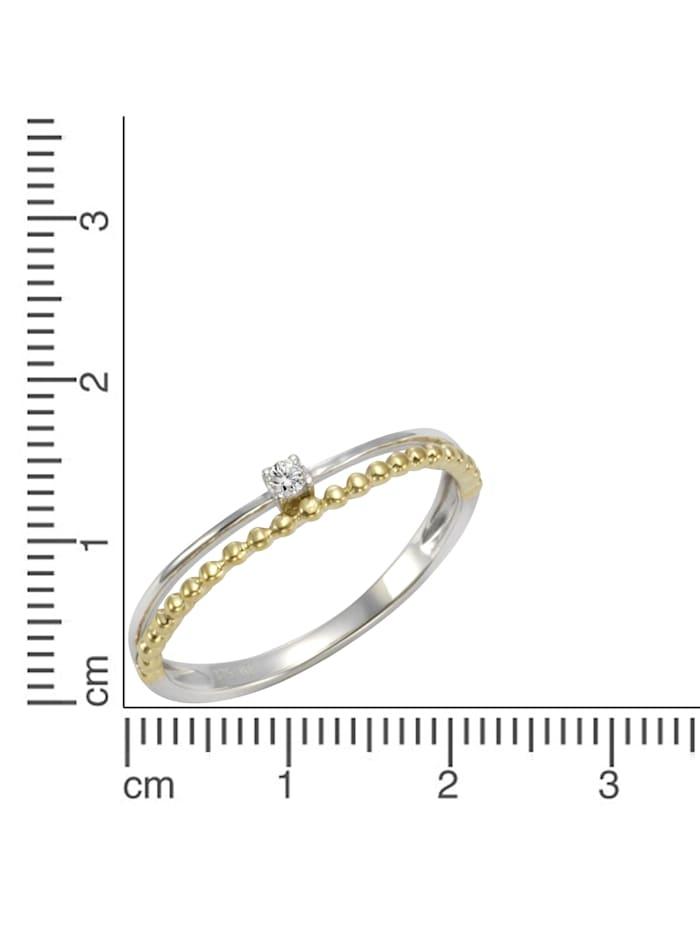 Ring 375/- Gold Zirkonia weiß Glänzend 0,05 375/- Gold