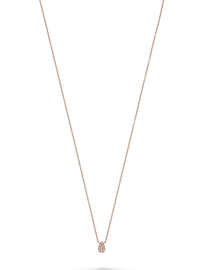 CHRIST Diamonds CHRIST Diamonds Damen-Kette 375er Roségold 10 Diamant, rosé