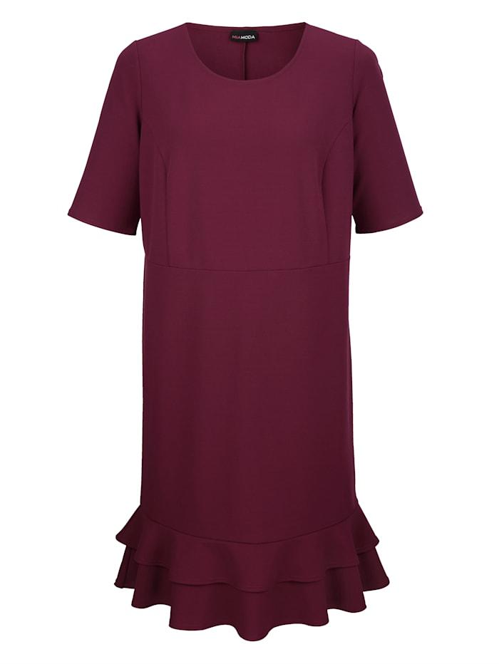 Kleid mit Volants am Saum