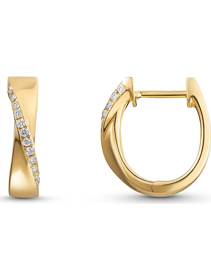 CHRIST Damen-Creolen 24 Diamant