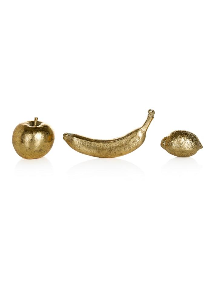 IMPRESSIONEN living Deko-Obst, 3-tlg., golden