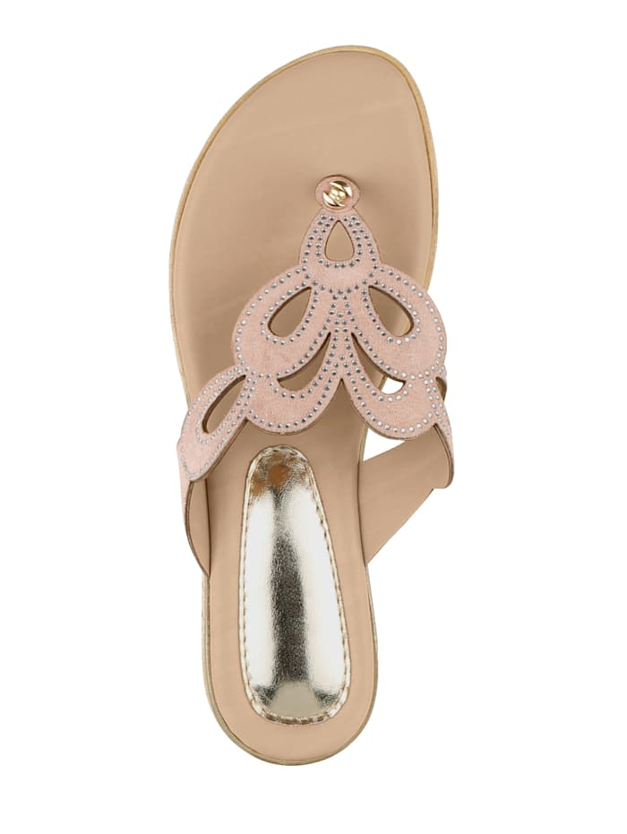 Flip flops with sparkling rhinestones