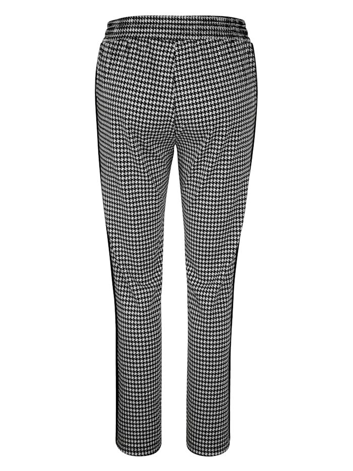 Kalhoty s moderním vzorem kohoutí stopy