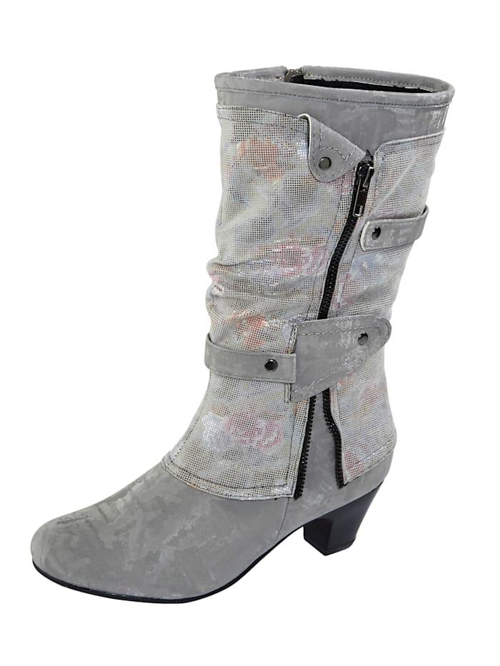 Liva Loop Stiefel aus changierendem Softmaterial, Grau
