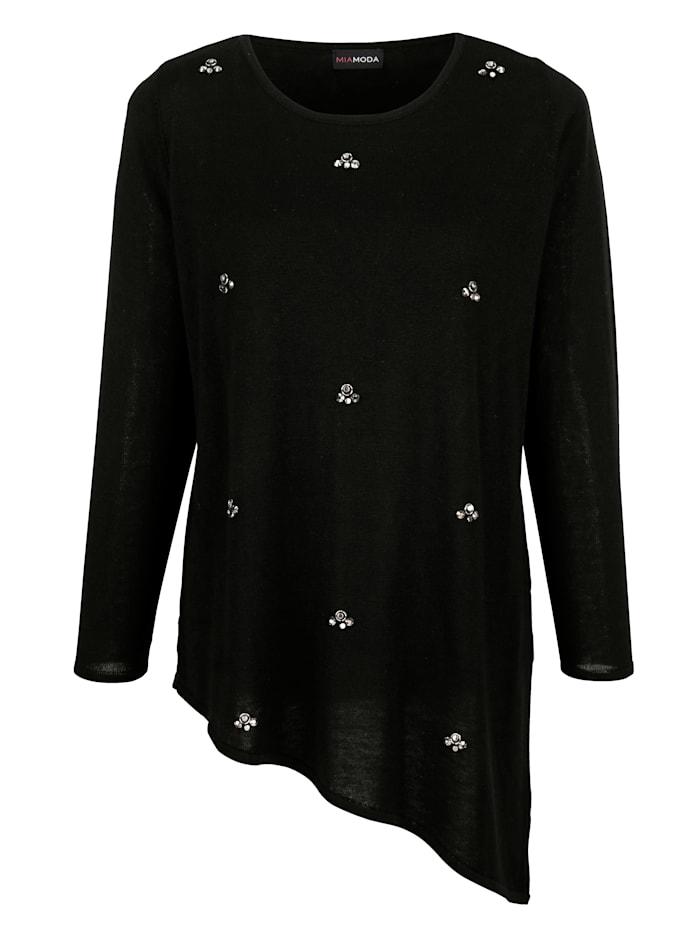 Pullover mit Dekosteinen besetzt